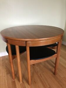 Teak Danish Mid Century Modern Hans Olsen Dining Table