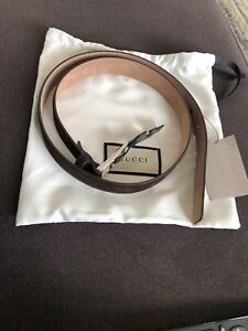 BRAND NEW Authentic Gucci Suede Leather Belt Size 38 Mens