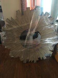 "***Brand New, Wood Starburst Accent Mirror 39""***"