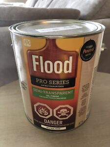 Flood Semi-transparent stain (color: Cinder) - 4 cans