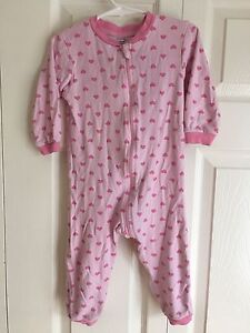 Baby Girl Sleepers and Onesies Lot 18-24 Months