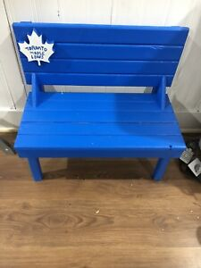 Mini Wood Benches 2 - Toronto Maple Leafs 1 - Blue Jays