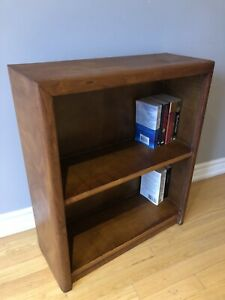 Vintage Wood Bookcase - Compact Size