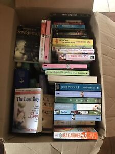 Large box of books to giveaway.