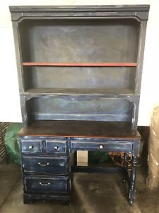 Desk and hutch refinished and distressed