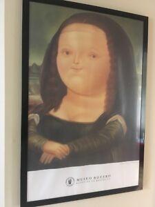 """Mona Lisa BOTERO póster + frame"""" De Serres"""" 24 x 36 po"""