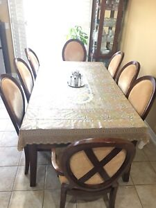 Dining set with 8 chairs & hutch,Dining set with 4 chairs/hutch