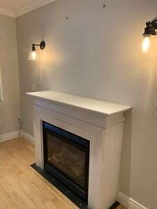 Gas fire place (without the white mantle)