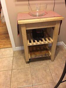 IKEA microwave stand/ kitchen island
