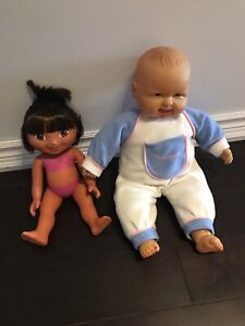 Baby doll and Dora The Explorer