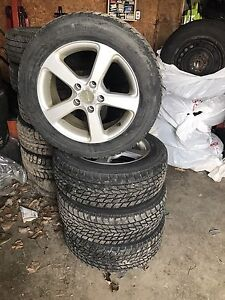 SET OF WINTER TIRES ON RTX RIMS 205/60/16 5x114.3