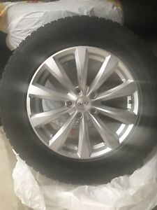 "4 * 18"" KIA ALLOY RIMS and Winter TIRES"