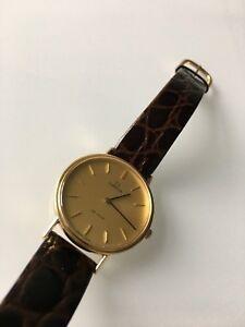 Omega DeVille 18K Gold Dress Watch vintage CASH OR TRADE)