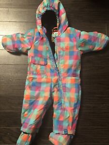 ROXY size 6 month fleece lined snowsuit -$40