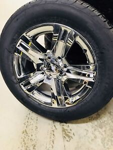 "New silverado/ Sierra take off 20"" chrome wheel/ tire set"