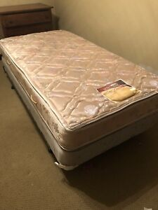 Metal Twin Bed Frame and Pillowtop Mattress