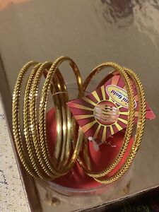 22k gold plated bangles set each