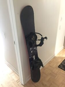 Snowboard and snowboarding boots