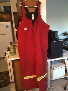FR Fire resistant insulated bib overalls,  3xl tall, ex cond