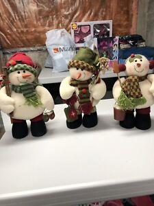 Standing Snowmen Set of 3