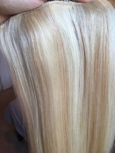 22 inch clip in blonde hair extensions