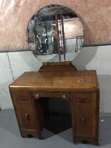 Vintage Vanity and Mirror Set