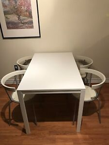 IKEA dining table and chairs set