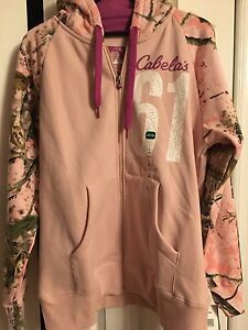 NWT Women's Large Cabela's Zip Up Hoodie
