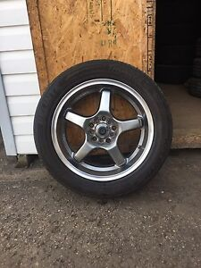 "17"" Aftermarket Rims with Summer Tires 5 x 100"