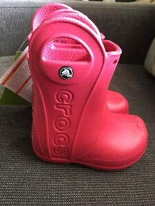 Brand new (with tags) Crocs handle it rain boots size 6