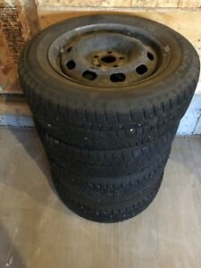 4 set Continental winter tires and steel rims