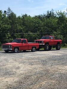 1978 2wd 1/2 ton chevy and 1986 4wd 1 ton chevy