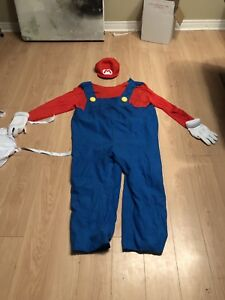 Super Mario Costume With Inflatable Belly
