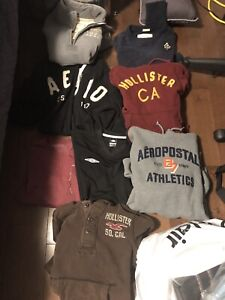 Men's small brand name hoodies and shirts