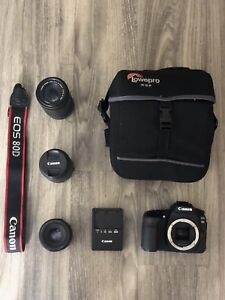 CANON EOS 80D DIGITAL SLR WITH 3 LENSES BUNDLE!