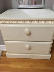 Headboard; Dresser and nightstand