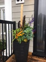 Fall Planters in Cambridge, Kitchener