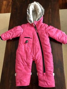12 month Kushies (Blue Banana) snow suit - perfect condition!