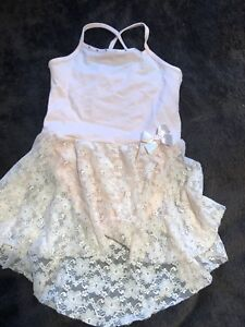 Girls Dance Leotard with Lace Skirt