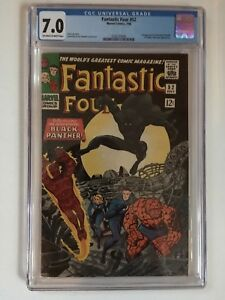 Fantastic Four #52.  CGC 7.0  First appearance Black Panther.