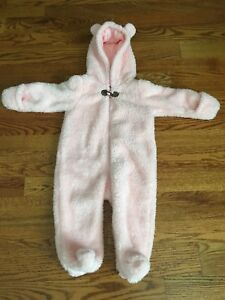 Baby Girl Fleece Snowsuit- Like New