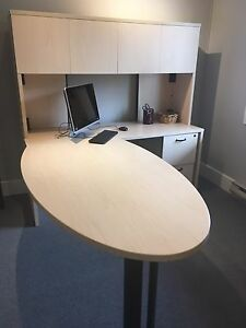 Steel case desk