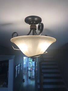 Ceiling Lights - 1 x Hanging and 3x Flush-mount