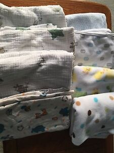Assorted baby blankets