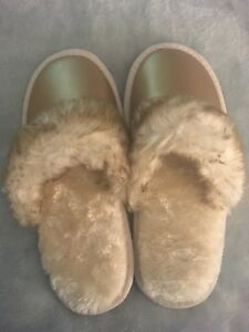 Selling a pair of cozy slippers!
