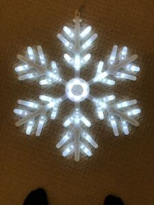"""Animated 23"""" LED Snowflake - Christmas Lights - Indoor/Outdoor"""