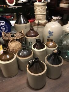 Vintage earthware jugs and more
