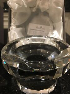 $340 ROSENTHAL GENUINE DESIGNER CRYSTAL PILLAR CANDLE HOLDERS