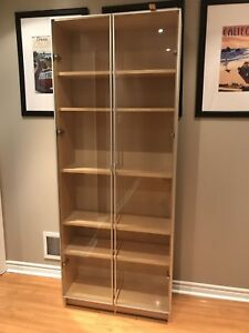 Bookcase with doors.