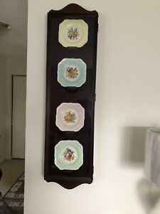 Mahogany Glass Case with Plates